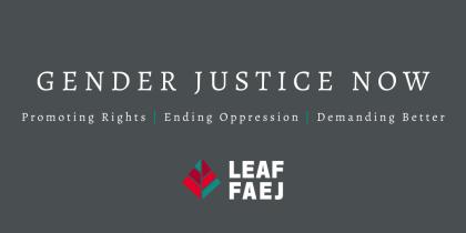 poster for Gender Justice Now